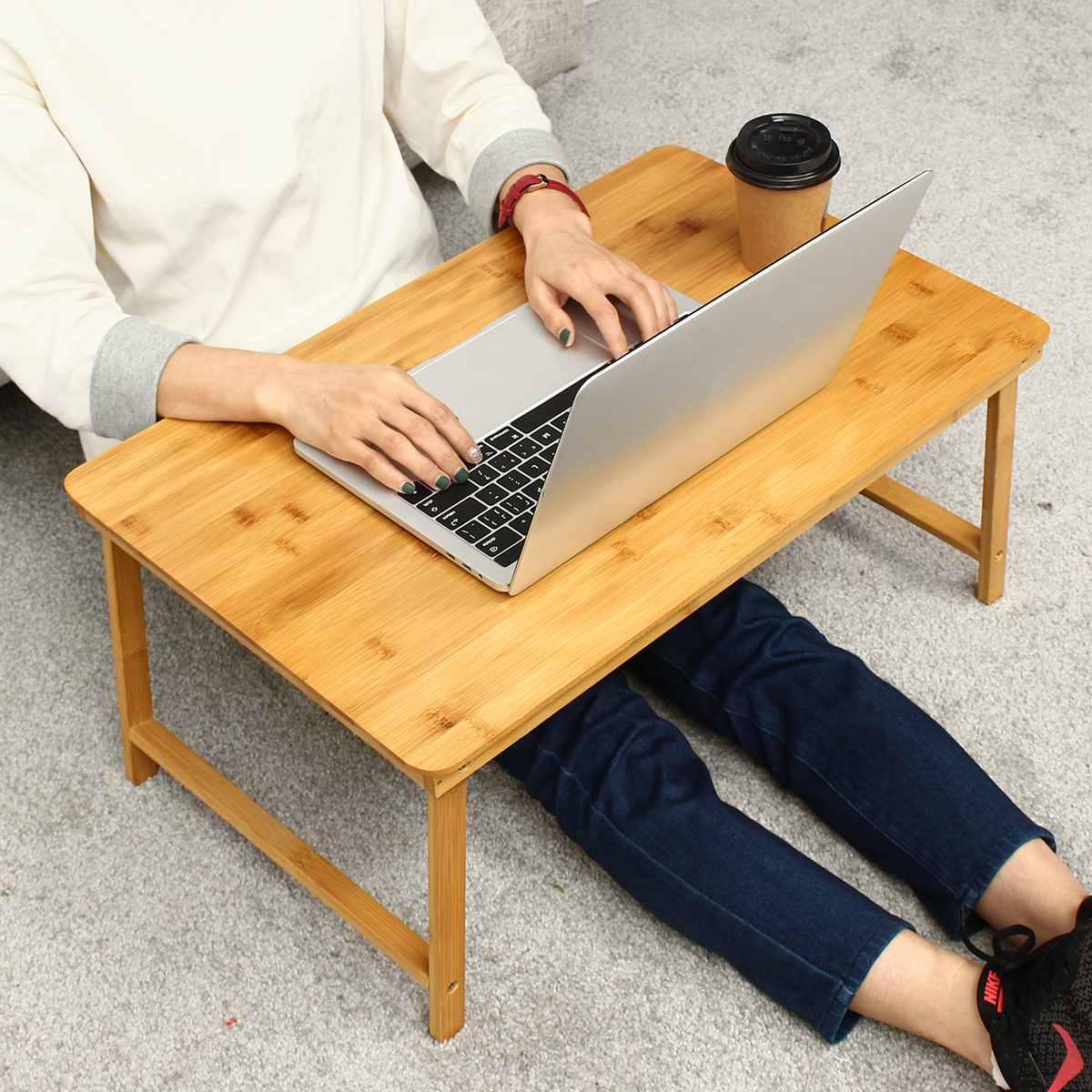 60*39*27 cm support pliant pour ordinateur portable pour lit bambou bureau d'ordinateur portable ordinateur livre Stand sur canapé dortoir voyage Camping pique-nique meubles