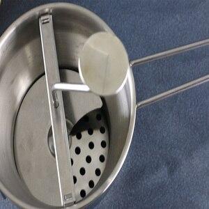 Image 5 - Broyeur professionnel à disques perforés fruits, 3 moules perforés, en acier inoxydable, boue, tamis à légumes, râpe à confiture, mélangeur daliments