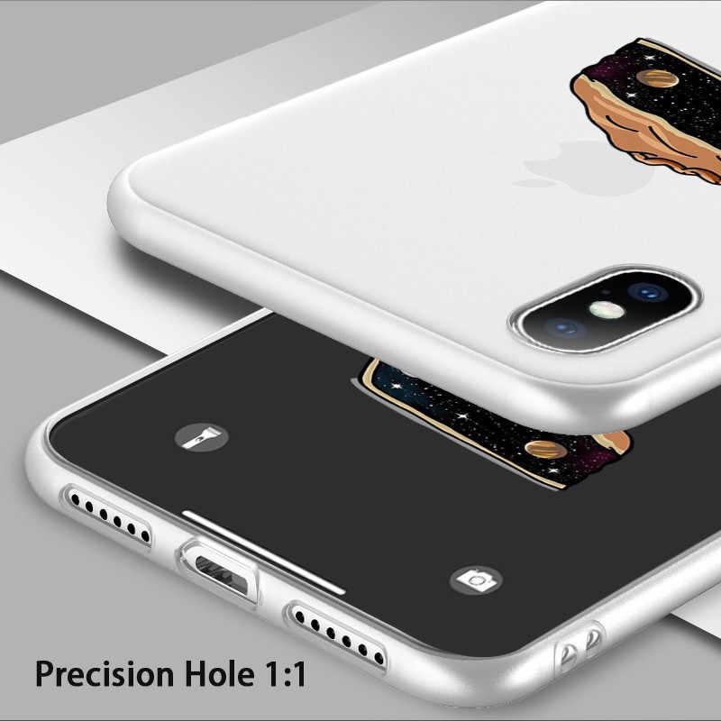 USLION забавные лиственным принтом чехол для iPhone X XS 6 6s 7 8 Plus с изображением персонажей из мультфильма и торта мягкие ТПУ чехлы накладки для iPhone XR Xs Макс 5 5S SE