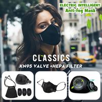 Electric Anti PM2.5 Dust Mask Black Safety Sports Mask 2.0 Face Sport Respirator Mask Light Weight For Men Women Slient Fliter