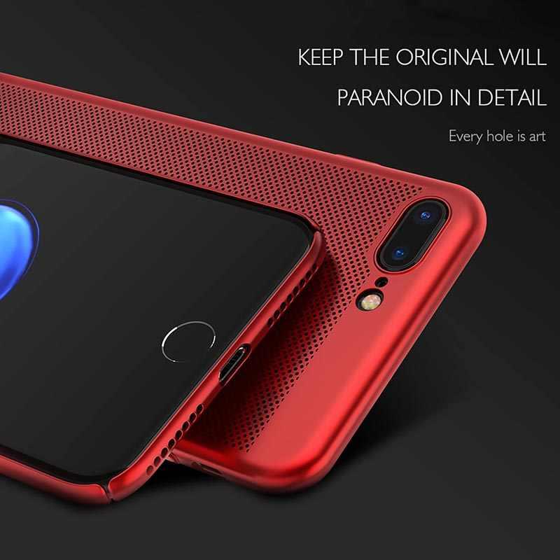 Ультратонкий чехол для телефона для iPhone 6, 6s, 7, 8 Plus, полые чехлы с рассеиванием тепла, Жесткий ПК для iPhone 5, 5S, SE, задняя крышка, Coque X S MAX
