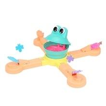 Кормление лягушка проекция поедание бобы забавная настольная головоломка Научная игра родитель-ребенок интерактивные детские игрушки