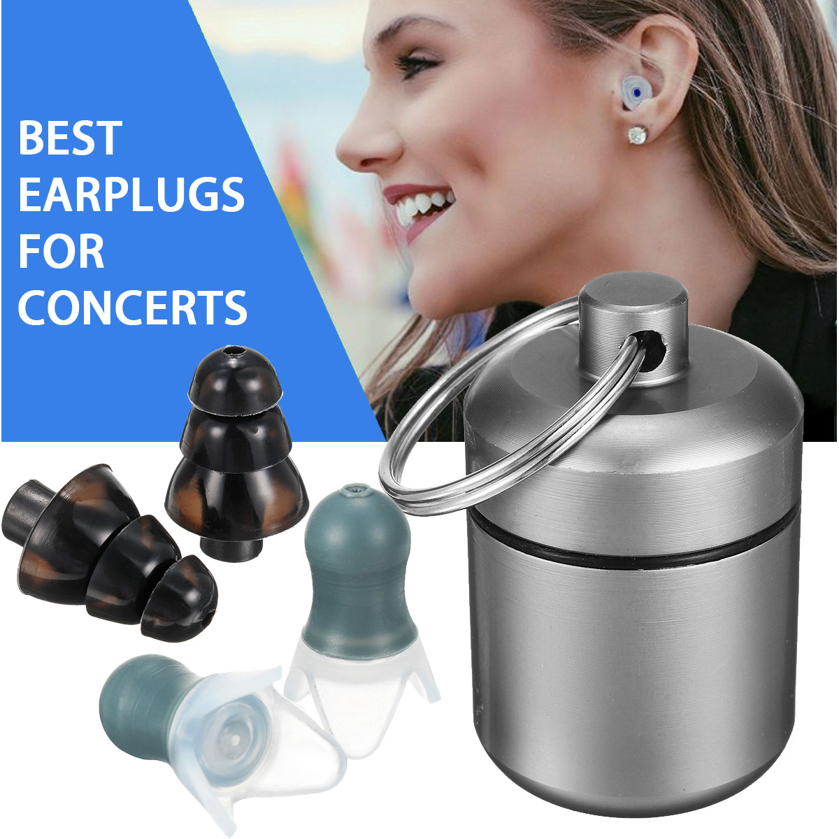 New 2 Pair 27db Noise Canceling Earplugs Swimming Earplugs Music Waterproof Hearing Protectors For DJ Studying Sleeping