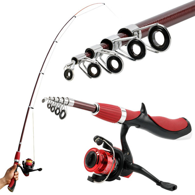 Bobing 1.4m 3BB Carbon Fiber Rod Superhard Boat Ice Fly Lure Portable Fishing Rod With Reel Combo Spinning Fishing Tackle Set