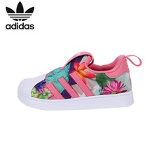цена на Adidas Clover Kids Shoes Original Breathable Light Children Running Shoes Comfortable Sports Sneakers #CQ2578