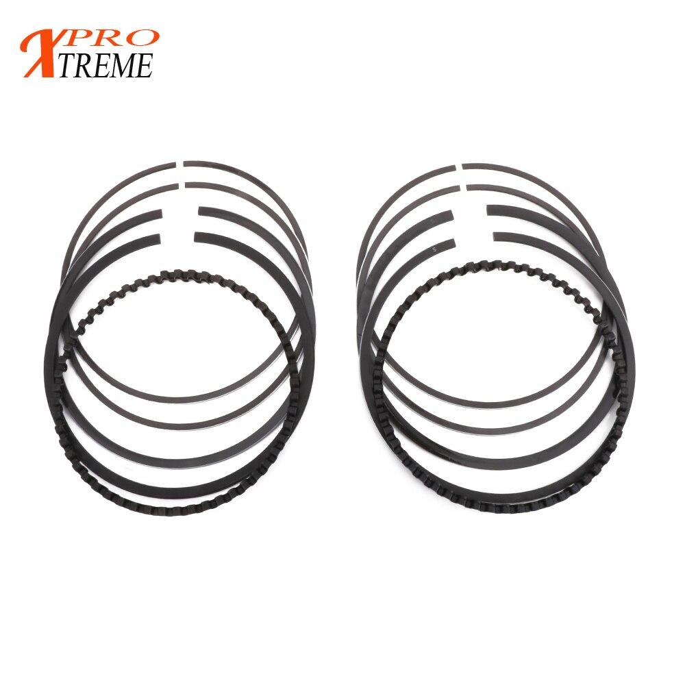 Motocross Engine Chrome Steel Alloy Piston Ring Set For