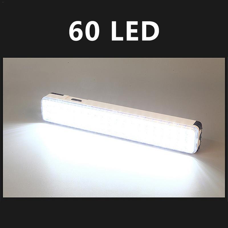 Lampe de poche Rechargeable multifonctionnelle de lumière de secours de 30/60 LED Mini lampe de lumière de secours de 30 LED 2 Mode pour le Camp à la maison extérieur