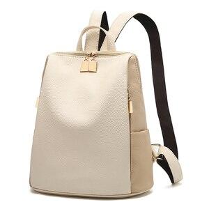 Image 1 - נשים תרמיל בית ספר סגנון עור תיק עבור מכללת פשוט עיצוב נשים מקרית Daypacks המוצ ילה נקבה מפורסם Brands168 325
