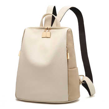 Women Backpack for School Style Leather Bag For College Simple Design Women Casual Daypacks mochila Female  Famous Brands168-325 - DISCOUNT ITEM  50% OFF All Category
