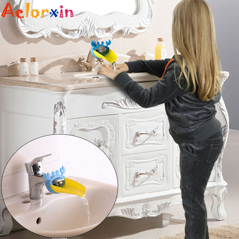 2019  Crab Cartoon Faucet Extension Children's Guide Sink Hand Sanitizer Handwashing Tools Extension Of The Water Trough Bathroo