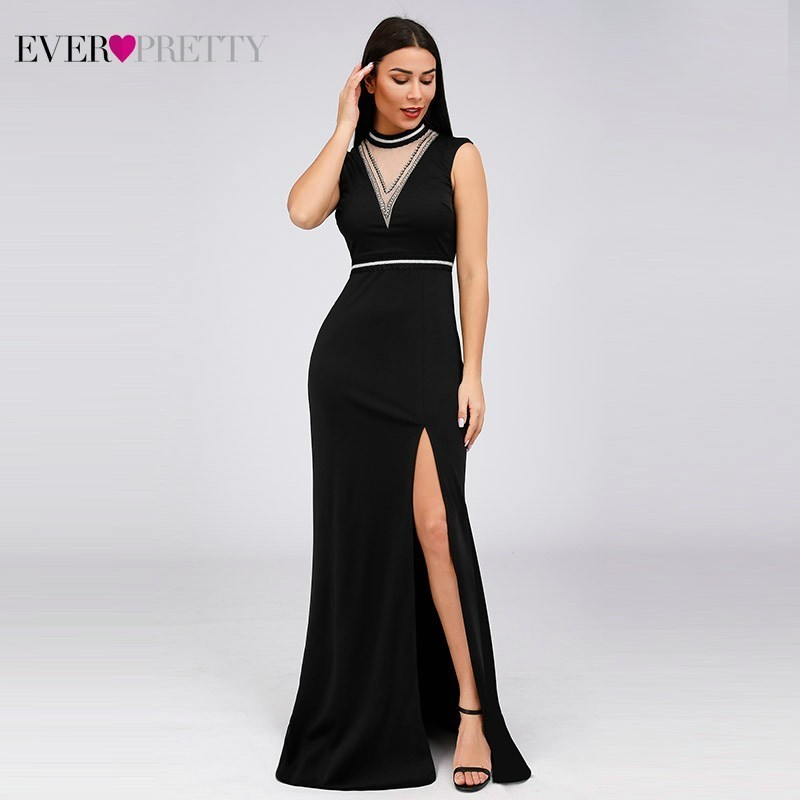 Evening Dresses Long Ever Pretty Mermaid Deep V-Neck Sleeveless Formal Dresses EZ07805BK Vintage Party Gowns Vestido Largo Mujer