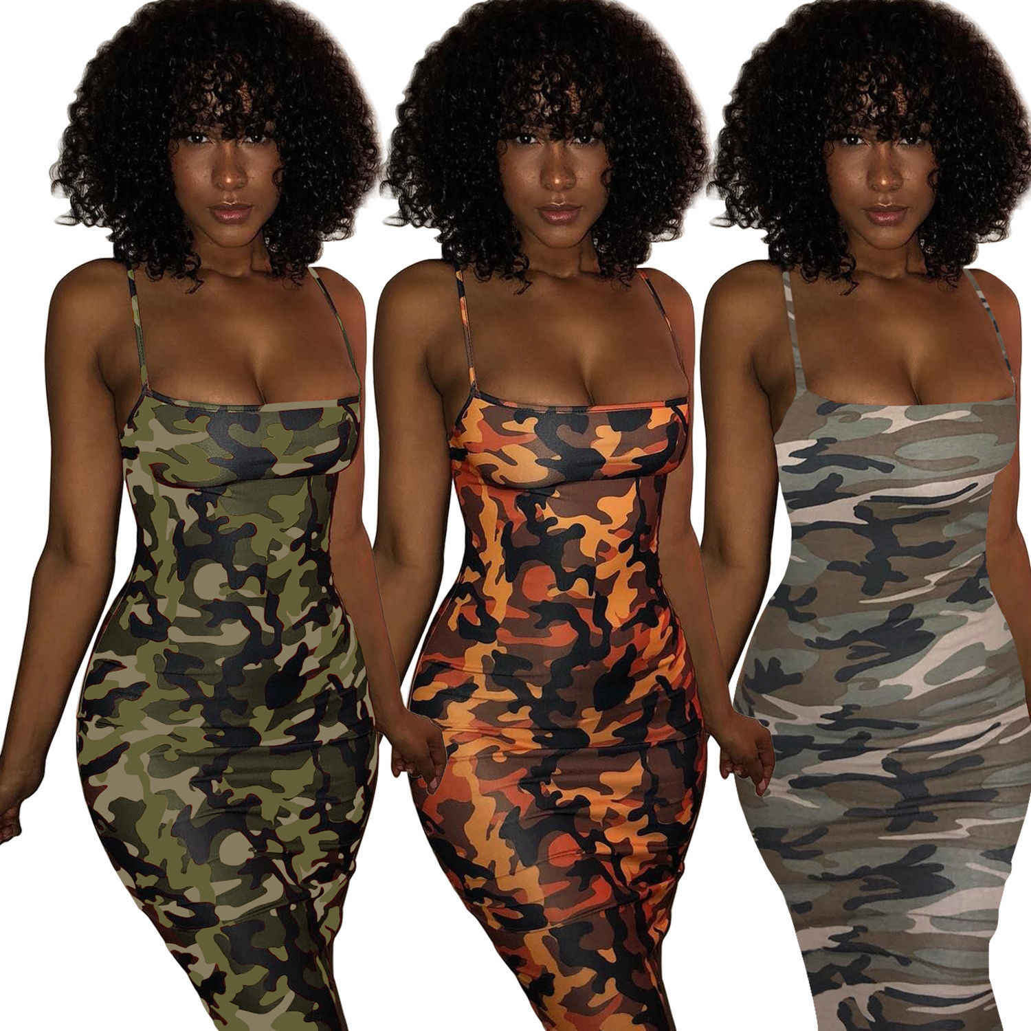 NEW Sexy Women Camouflage Sleeveless Bandage Bodycon Mini Dress Evening Party Club Short Dresses Vestido Plus Size S-3XL