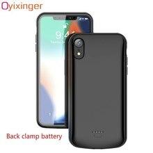 OYIXINGER большой емкости задняя зажим батарея телефон зарядное устройство чехол для IPhone XR Xs Max X 6 7 8 Plus 5 5S SE 5c 6s источник питания