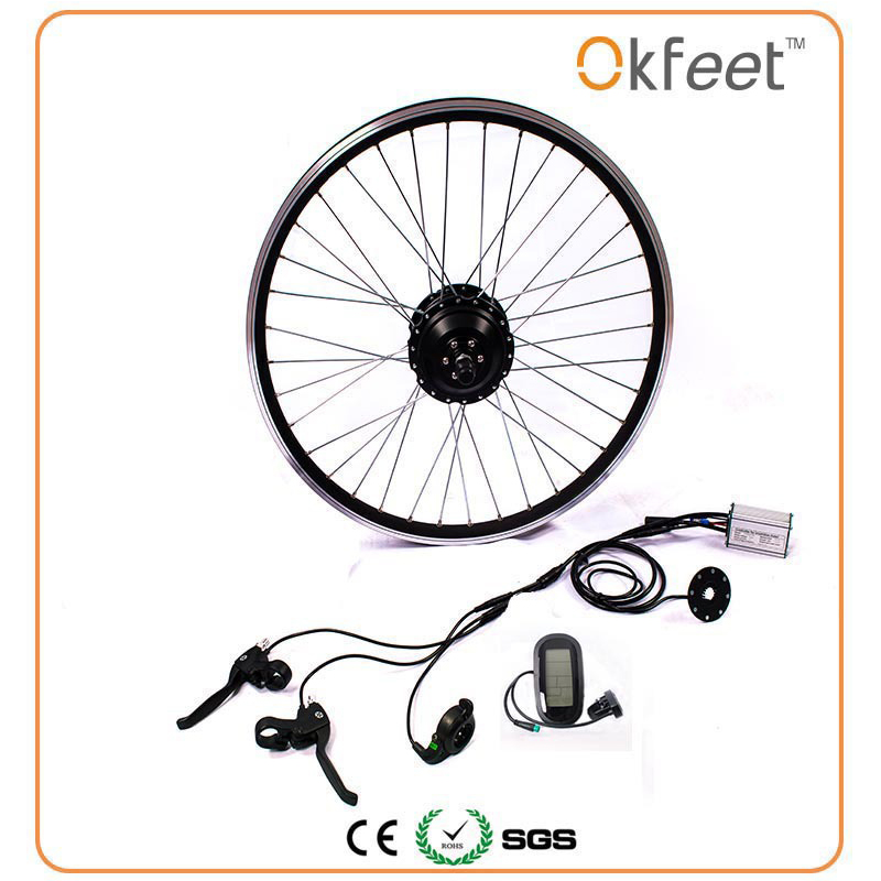 все цены на 36 V 350 W bike kit electric bicycle conversion kit motor OKfeet brand batteryless LED bottom LCD display optional 16/20/24/26/ онлайн