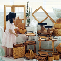 30 pieces wood cake stand set forest style cake tools showcase tray outdoor wedding dessert table party supplier