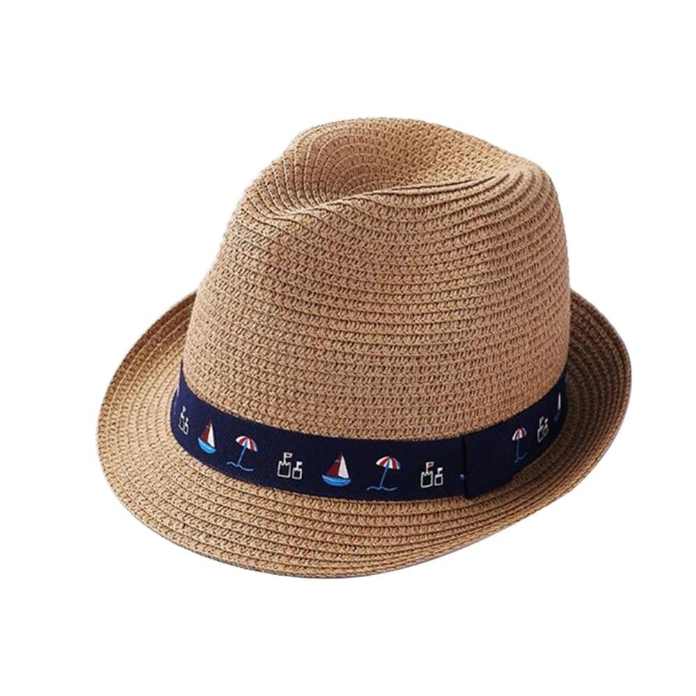 1 Pcs Stroh Hut Frühling Und Sommer Sun-proof Fedora Hut Kappe Stroh Hut Sonne Hut Für Frau Mann Kid Rabatte Verkauf