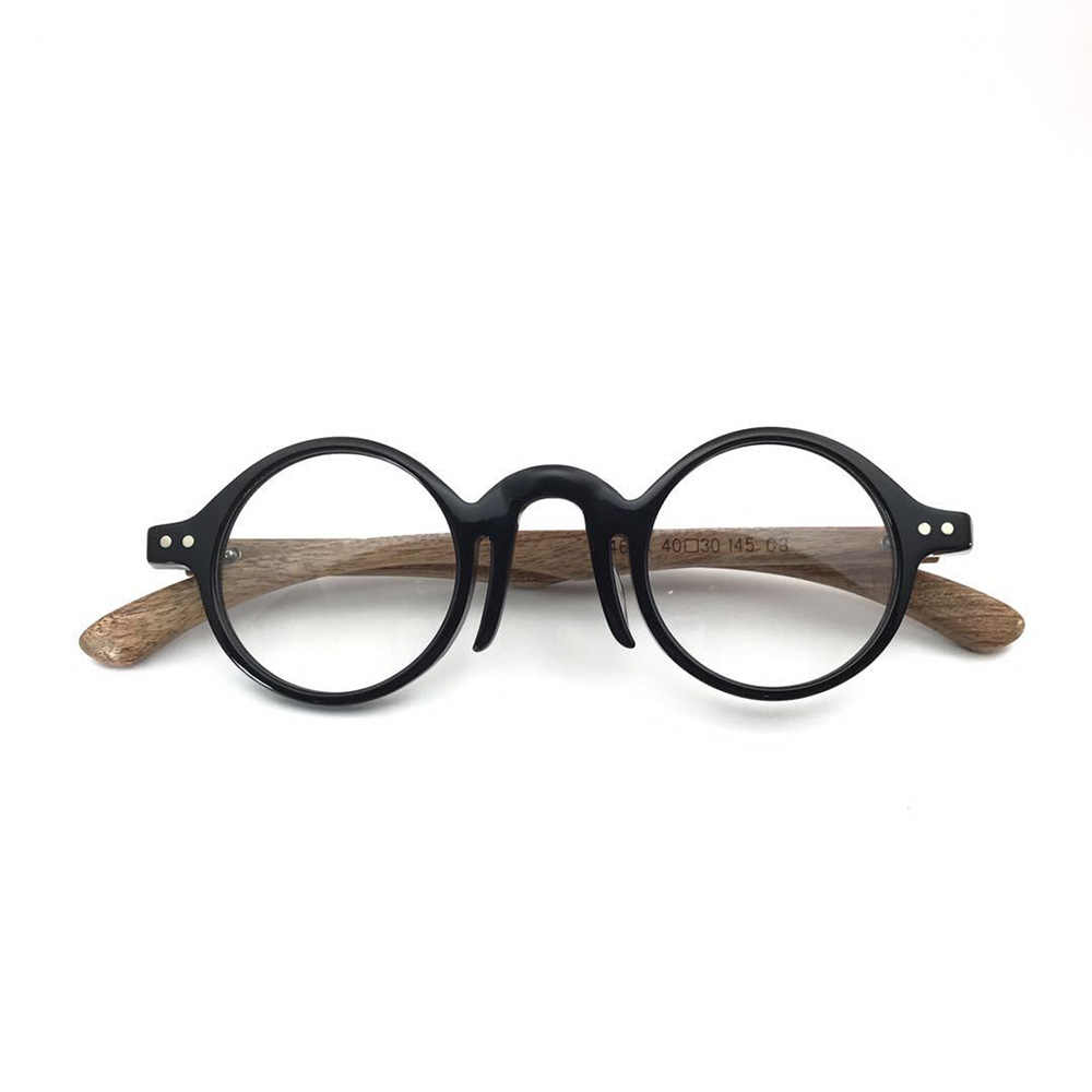 c4cc5023652 ... Retro Round Eyewear Frames Women Men Handmade Optical Glasses Frames  Vintage Wood Spectacles Myopia Prescription Eyeglasses ...