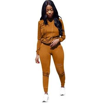 цена на S-XXXL 6 COLORS Winter Overalls Autumn Hoodies+pant tracksuit fashion sexy women's set two pieces suits casual tracksuit
