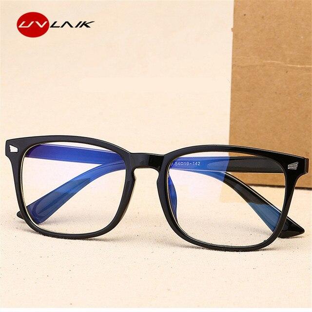 UVLAIK Luz Azul Homens Óculos de Computador Jogos Óculos Transparentes  Óculos de Armação Dos Óculos Mulheres fb29469976