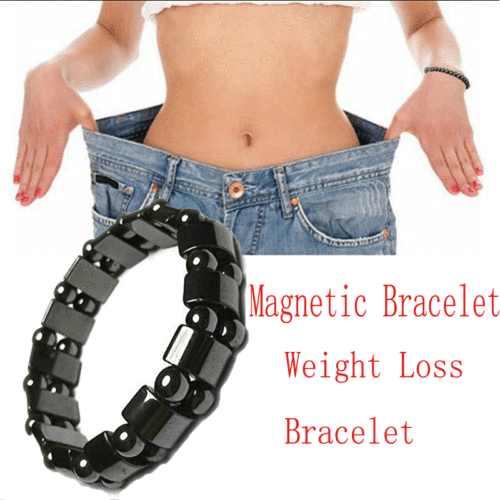 Hitam Magnetic Bijih Besi Gelang Wanita Pria Magnetik Bijih Besi Gelang Menghilangkan Rasa Sakit Energi Kuat Elastis
