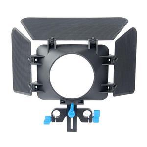 Image 1 - Abs Aluminium 85Mm 3 Blades Camera Matte Box Zonnekap Follow Focus Verstelbare Hoogte Voor 15Mm Slideway Dslr camera 200G