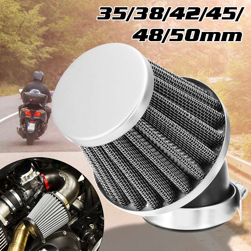New Motorcycle Air <font><b>Filter</b></font> 35mm <font><b>38mm</b></font> 42mm 48mm 50mm Universal Fit For 50cc 110cc 125cc 140cc Motorcycle ATV Scooter Pit Dirt Bike image
