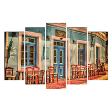 Modern Posters And Prints Oil Cafe Painting Canvas Wall Art Pictures For Living Room Home Decoration Free Shipping Cairnsi