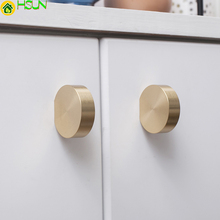 1 PC Unique solid brass Cabinet Knob Handle Dresser Knobs Gold Brass Drawer Pulls Handles Modern Simple Kitchen