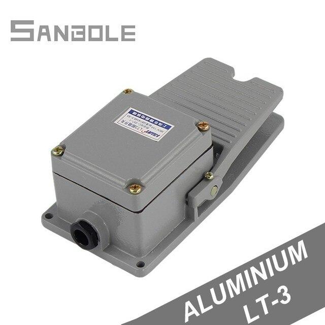 LT3 フットスイッチ工作機械の付属品ペダルスイッチ銀接点防水アルミシェル 15A/250vグレー