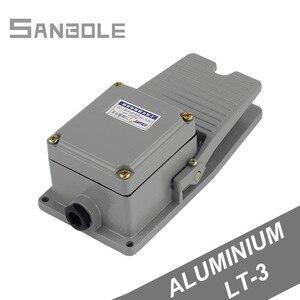 Image 1 - LT3 ayak anahtarı makinesi aracı aksesuarları Pedal anahtarı gümüş kontak su geçirmez alüminyum kabuk 15A/250V gri