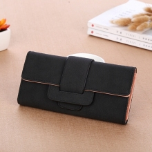 Womens Wallet Retro Lychee Pattern Ladies Long Leather Coin Small Bag Large Capacity Purse