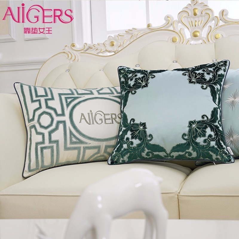 Table & Sofa Linens Luxury Velvet Embroidery Pink Cushion Cover Pillow Cover Pillow Case Blue Geometric Home Decorative Sofa Chair Seat Throw Pillow Cushion Cover