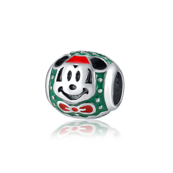 Fashion green beads Alloy ladies jewelry accessories Mickey drop oil beads for jewelry making women accessories wholesale AH042