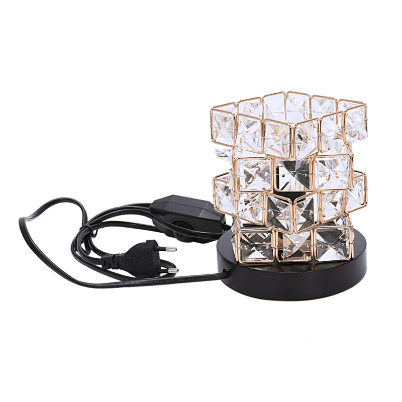 Lighting Accessories Himalayan Salt Lamp,natural Hymalain Salt Rock In Crystal Basket With Dimmer Switch,ul-listed Cord &wood Base Eu Plug