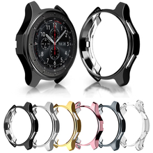Smart Watch Protective Case Cover For Samsung Gear S3 Frontier Bumper Cover Soft TPU Plated All-Around Protective Bumper Shell protective cover for samsung gear s3 frontier case tpu plated all around protective bumper shell smartwatch r760 cover frame