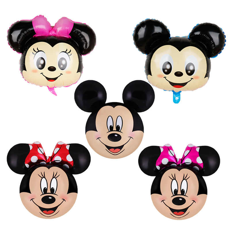 1pc 70*43cm cute Mickey mouse birthday party decorations kids foil balloons cartoon pink bow Minnie mouse party globo toys balls