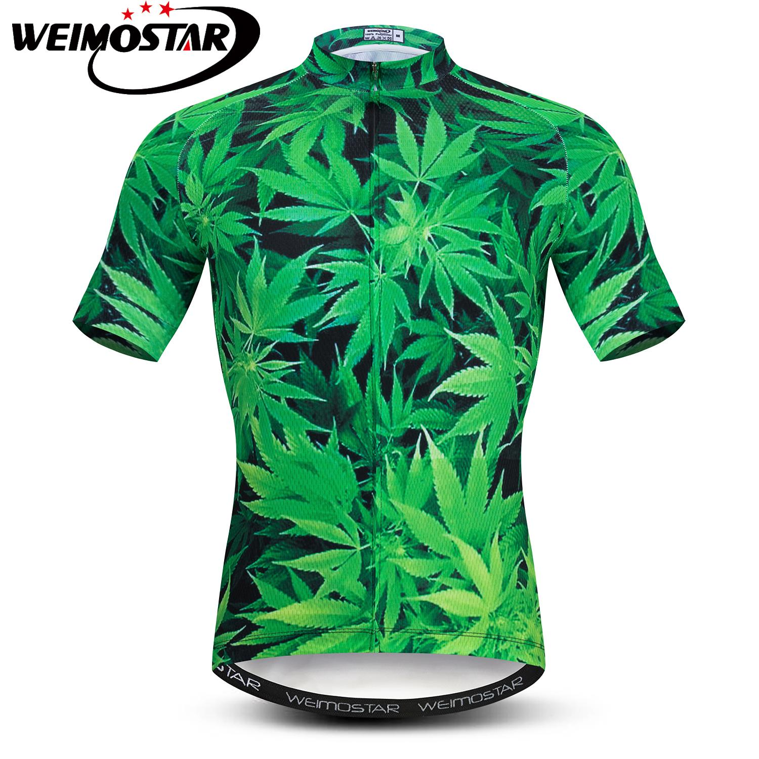 Detail Feedback Questions about Summer Cycling Jersey Shirts Men Short  Sleeve MTB Bike Jersey Pro Ropa Ciclismo 3D Green leaves Breathable Bicycle  Clothing ... 370e236b3