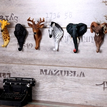 home cafe  resin wall hook kids room decoration accessories statue sculpture on the animal shape hoo
