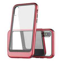 LEORY Shockproof TPU Case Phone Protective Shell For iPhone X Bumper Transparent Silicone Clear protection Back Cover(China)