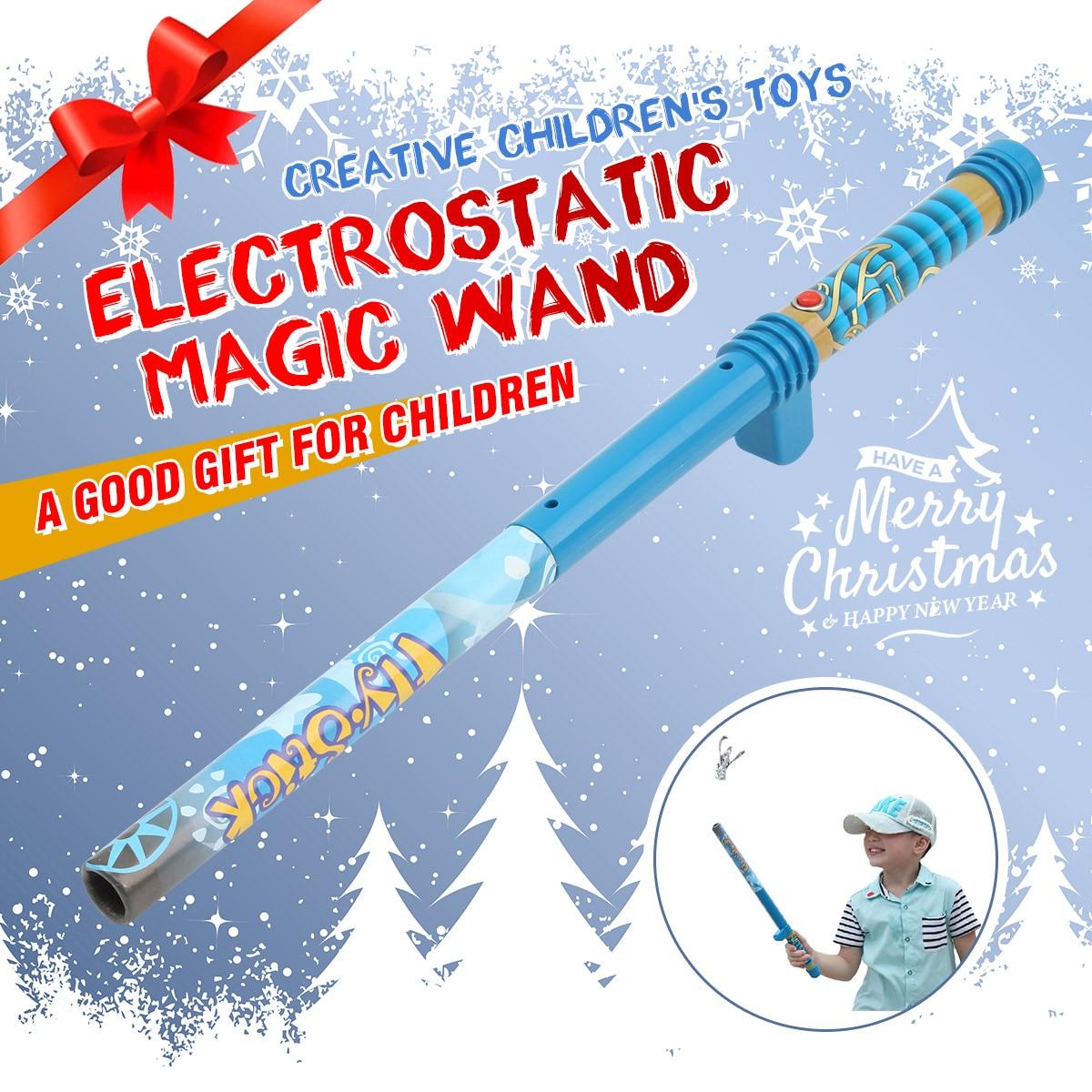 Varita mágica diversión eléctrico levitación volar Stick Mini juguete novela regalo divertido volar palo mágica levitación varita Juguetes