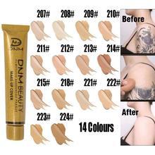 14 цветов Золотая трубка консилер жидкая водостойкая основа под макияж Крем татуировки покрытие макияж корректор темные круги под глазами шрамы крем