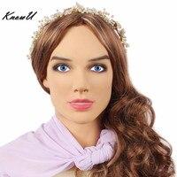 KnowU Realistic Silicone mask Cosplay Female Crossdresser drag queen трансвестит travesti トランスジェンダー транссексуалов