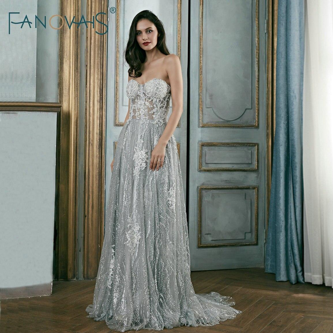 Silver Gray   Evening     Dresses   Glitter Fabric Special Occasion   Dress   Vestido De Festa Robe De Soiree   Evening     Dress   2019 Prom   Dress