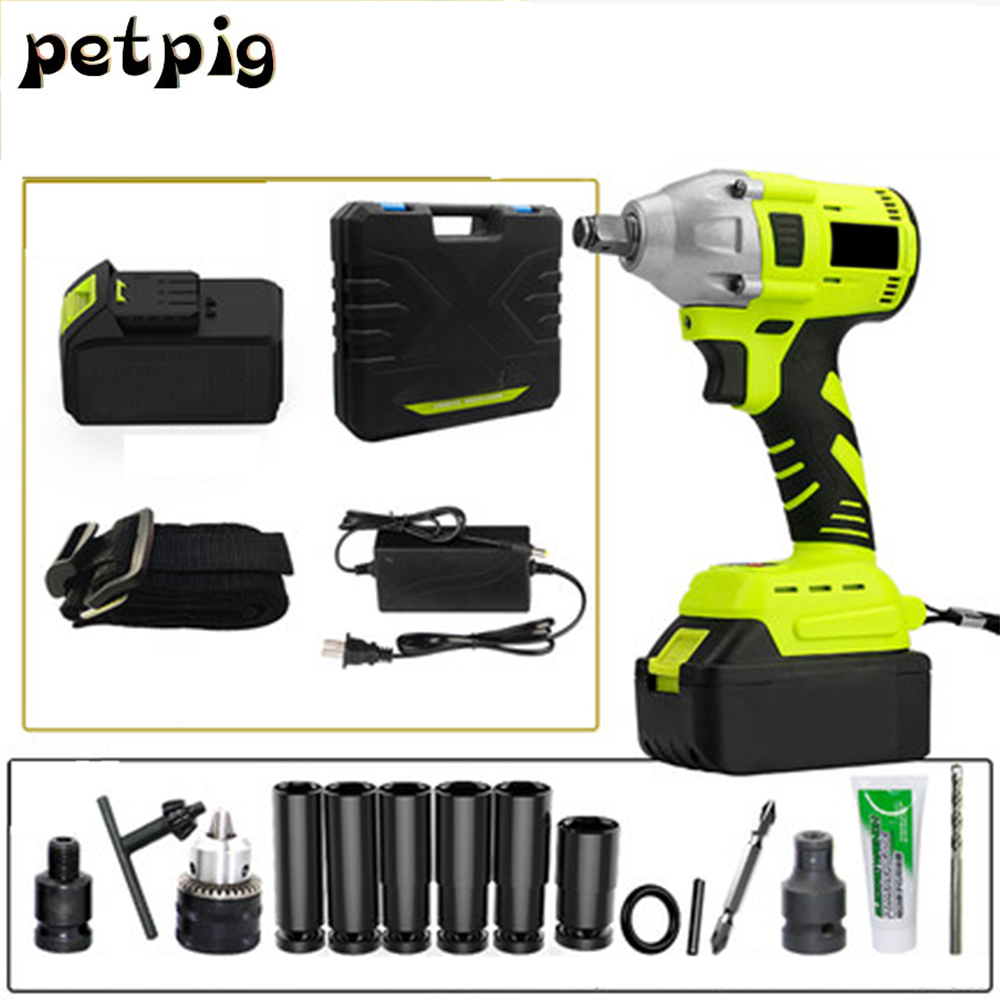 Multitool Electric Wrench Rechargeable Screwdrivers with 2 Batteries Power Tools Cordless Drill Spanners Impact Wrench Tool Set