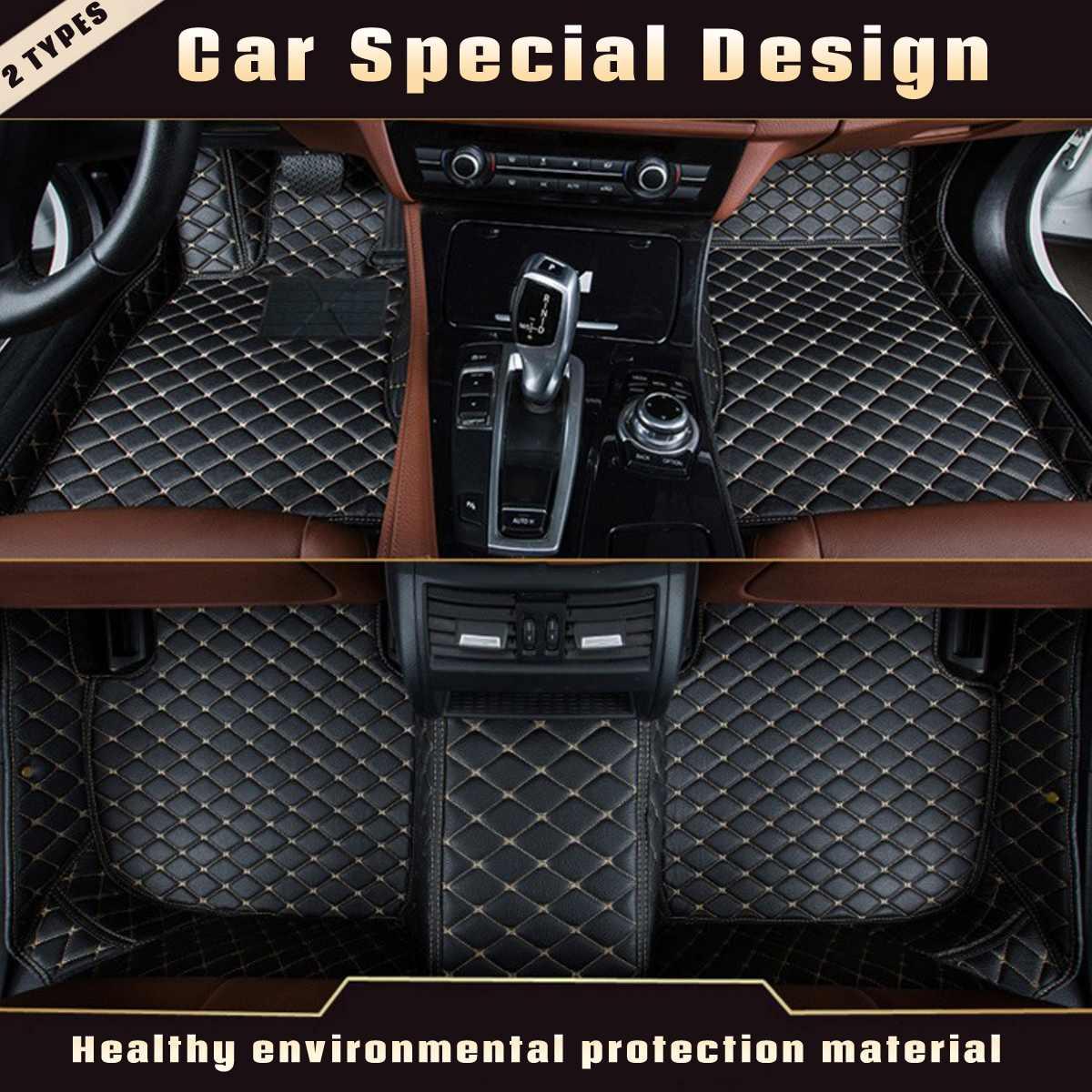 3Pcs Leather Anti Slip Car Floor Mat Auto Decor Carpet for Mercedes for Benz A C W204 W205 E W211 W212 W213 For Left Hand Drive