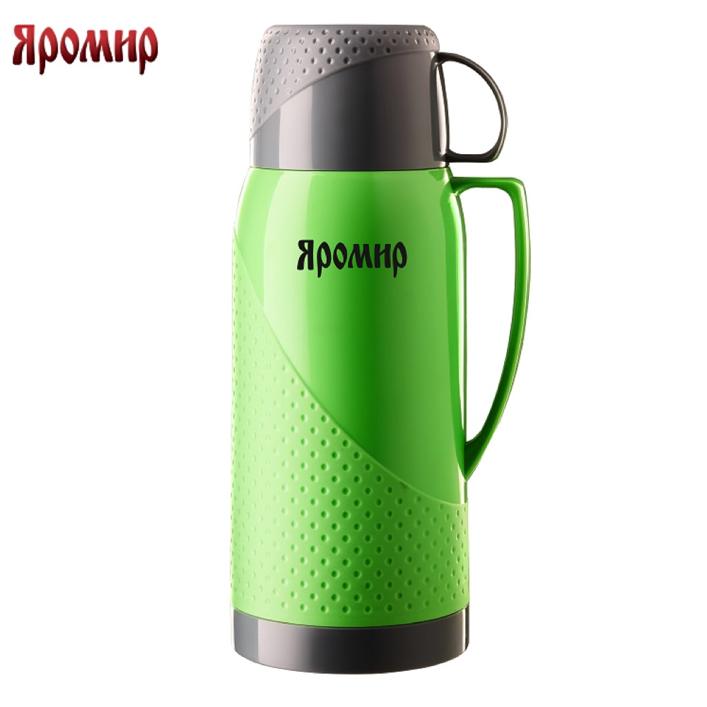 Vacuum Flasks & Thermoses Yaromir YAR-2023C Green/Grey thermomug thermos for tea Cup stainless steel water new safurance 200w 12v loud speaker car horn siren warning alarm stainless steel home security safety