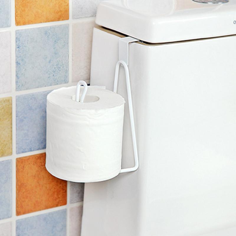 Door Back Iron Toilet Tissues Holdidng Racks Bathroom Wall Mount Roll Raper Holder Tissue Cover Storage Rack Easy To Install