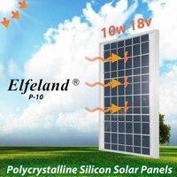 Solar Panel 18V 10W aluminum alloy frame Solar Charger For Car Battery Charging 12V 18V Polycrystalline Cells For hause,boat