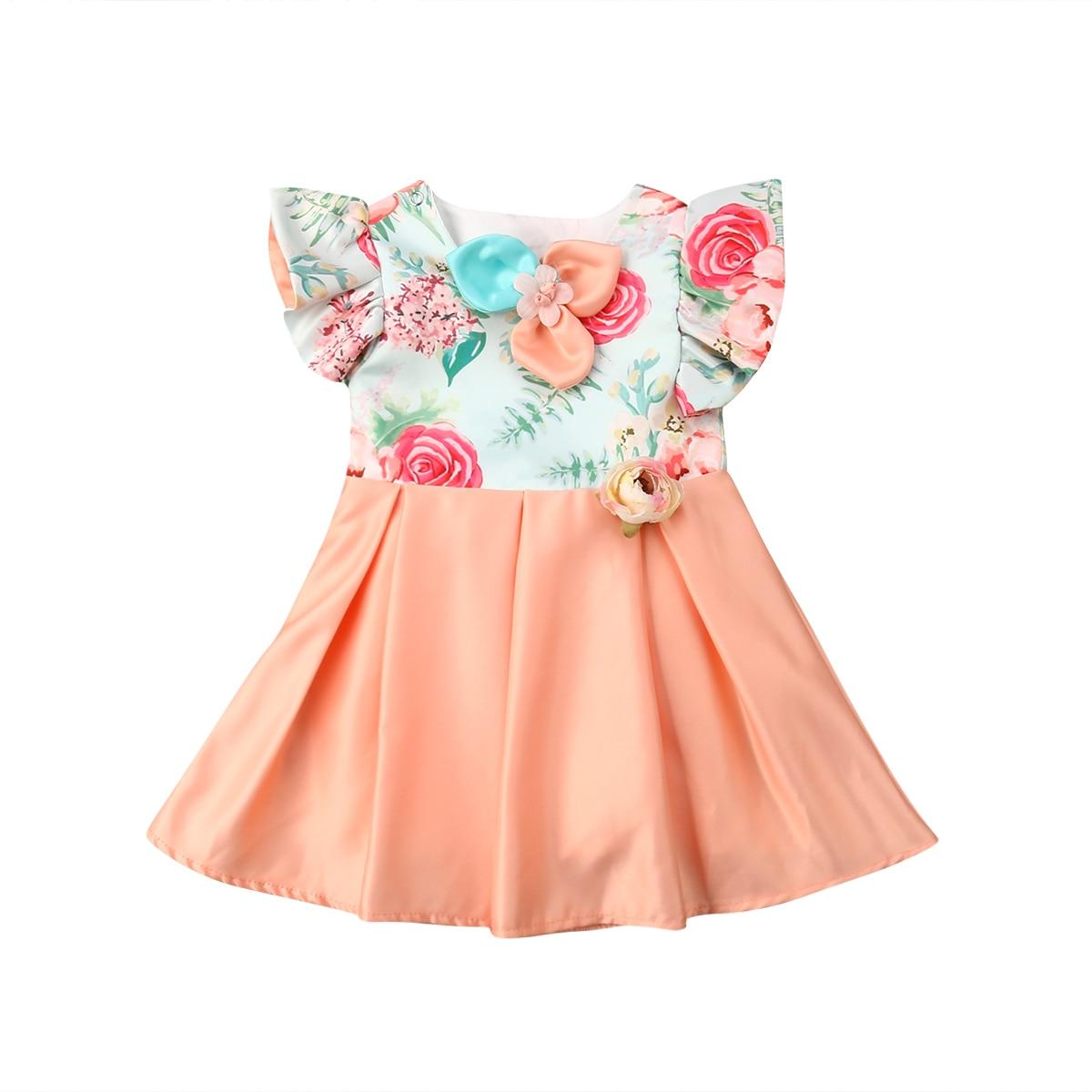 e70cb1697ad8 Dresses for Girls Summer Floral Print Cotton Baby Dress 2019 Lovely ...