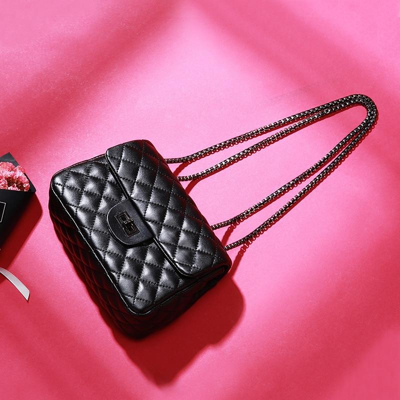 Sac Mouton Feu Unique De À Nouvelle Ouningna Mode En Corps Épaule Femmes Croix Ins Chaîne Mini Black Peau Super 2019 Main nz61Wq6A